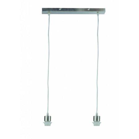 Luminaire suspendu rectangulaire gris 440mm large pour ARM-302