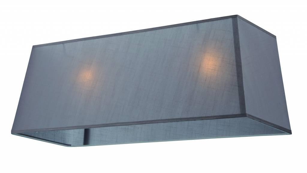 abat jour rectangulaire tissu 1000mm cru noir taupe pour arm 300 myplanetled. Black Bedroom Furniture Sets. Home Design Ideas