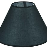 Lampenkap zwart/ecru/taupe stof conisch 350mm voor ARM-305/307