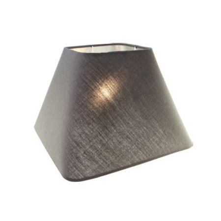 Lamp shade fabric black/ecru/taupe square 250mm for ARM-304/306