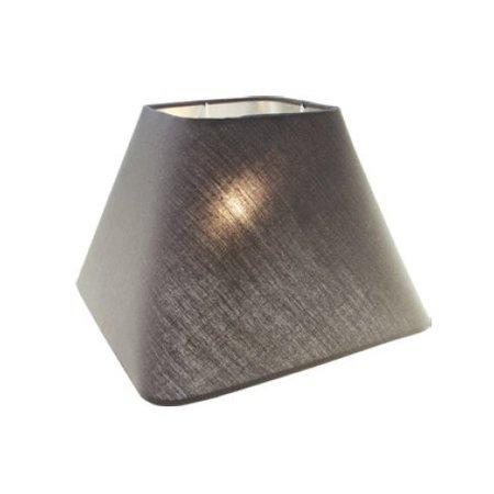 Abat-jour noir/écru/taupe carré tissu 350mm pour ARM-305-307