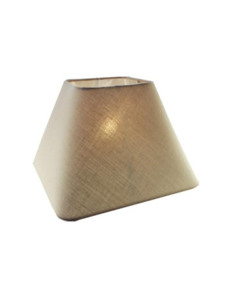 Lamp shade fabric black/ecru/taupe square 350mm for ARM-305/307