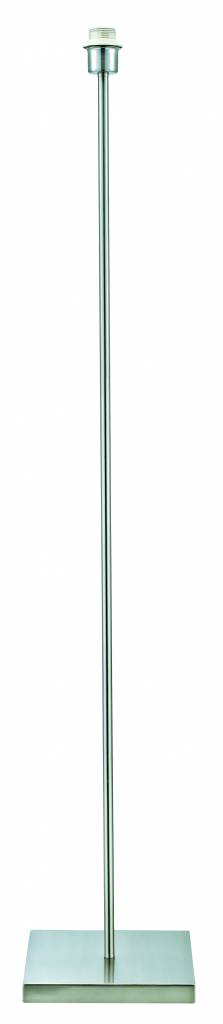 Floor lamp grey metal 1365mm high for lamp shade fabric E27