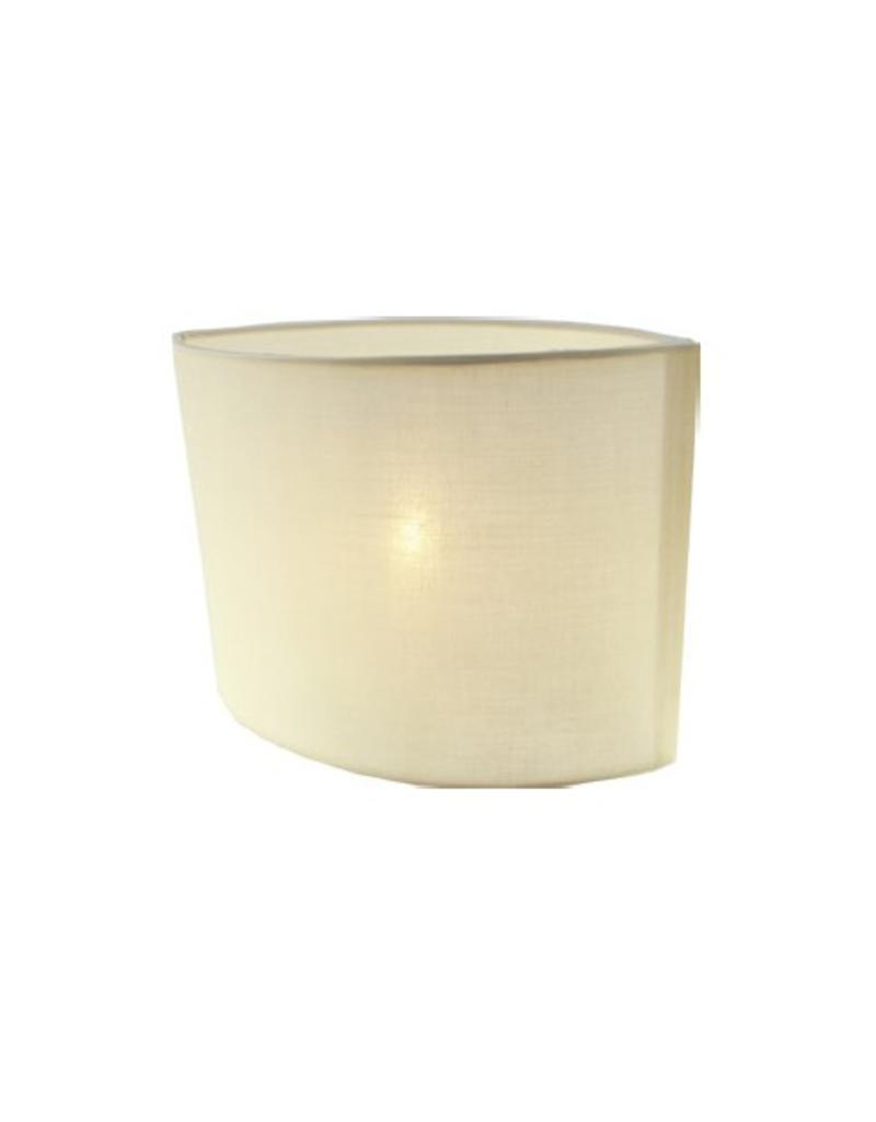 Lamp shade fabric black/ecru/taupe oval 260mm for ARM-304/306