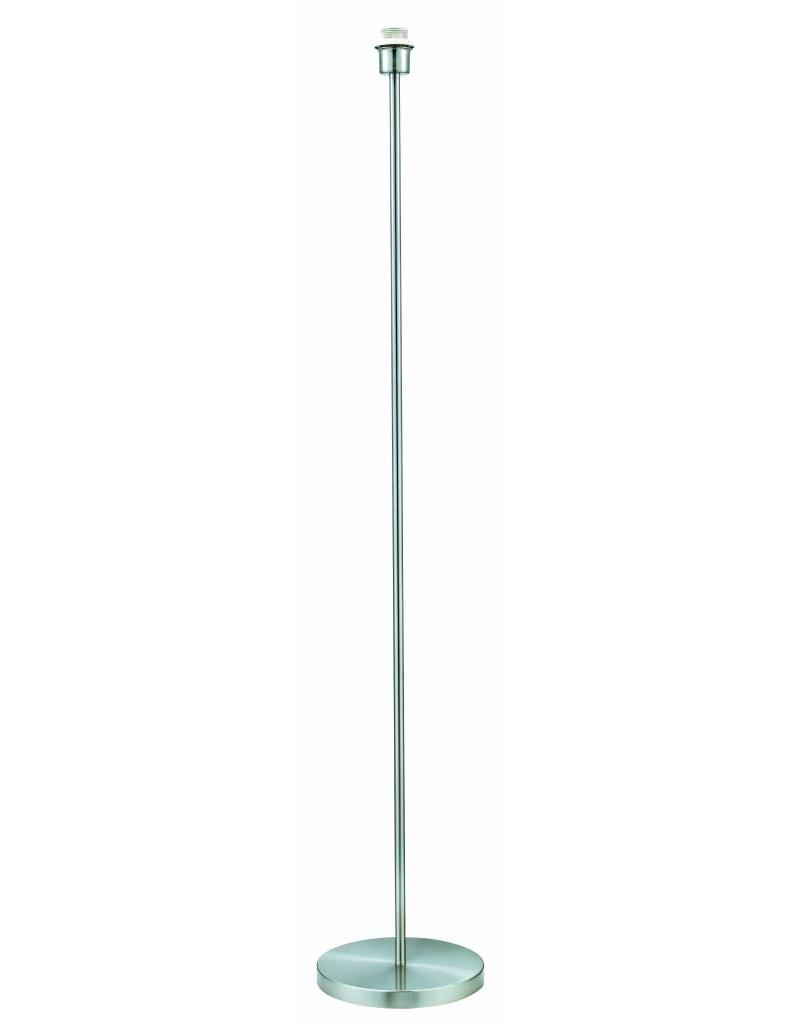 Floor lamp grey metal round 1365mm high for lamp shade fabric E27