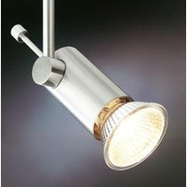 Plafondlamp zwart, wit of grijs voor spot op stang pin 70mm GU10