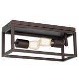 Ceiling light ruggine/aged copper/black 2xE27 400mm wide