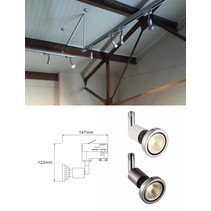 Track lighting GU10 white or silver for spot orientable