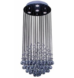 Pendant light round crystal Ø 400mm 4xGU10