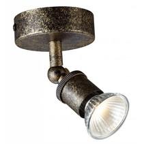 Plafondlamp LED GU10 roest op stang met dimbare spot 5W