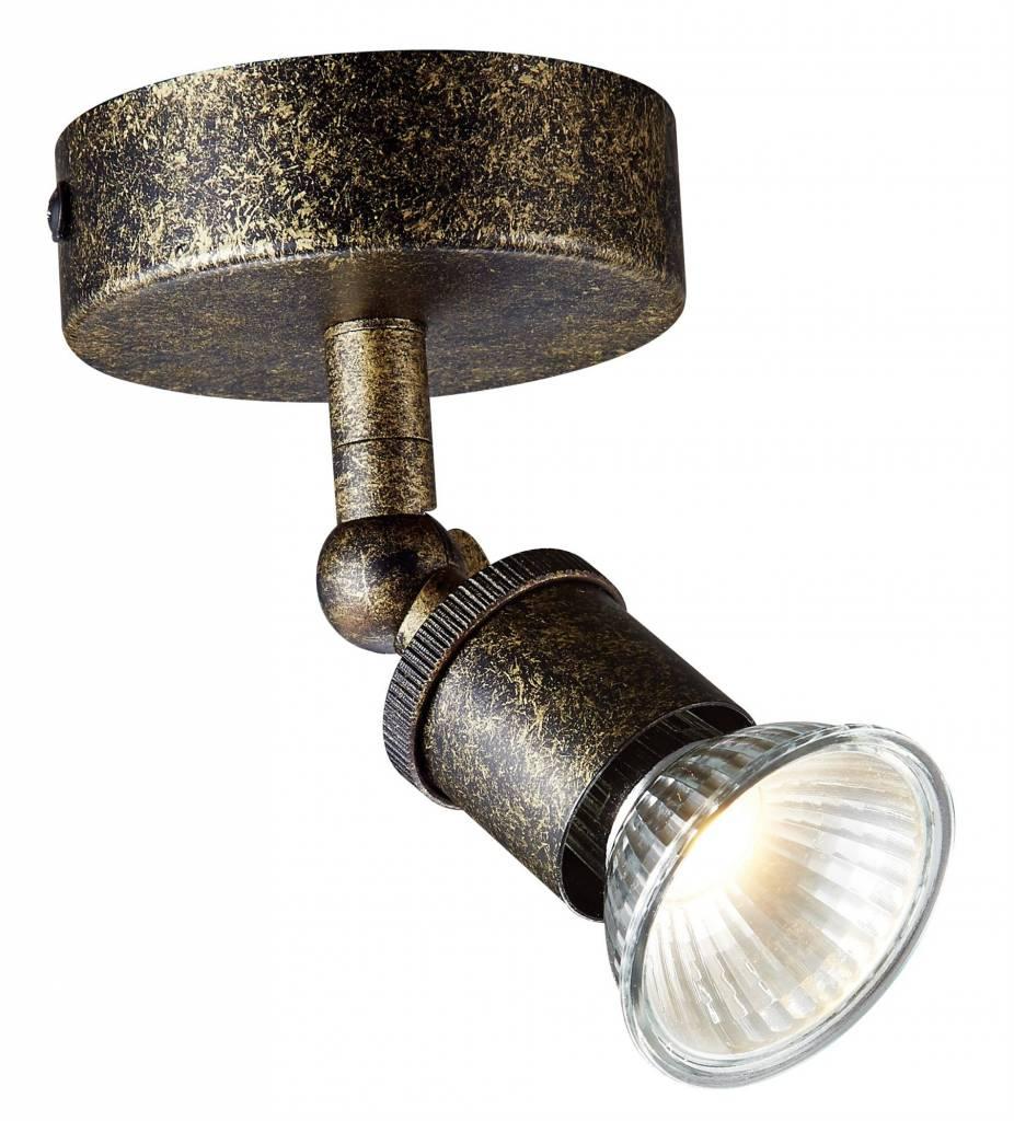 Verlichting online / Plafondlamp LED GU10 roest op stang met dimbare ...