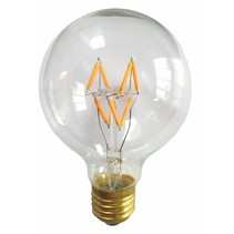 LED bulb light round 4W dimmable filament