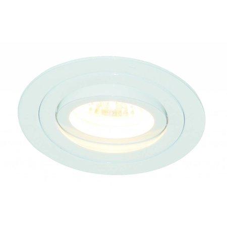 Inbouwspot GU10 zonder lamp rond wit of grijs