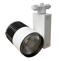 Railverlichting richtbaar wit LED 20W COB design 100mm Ø