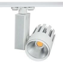 Spot sur rail LED 25W blanc moderne tri-phasé magasin