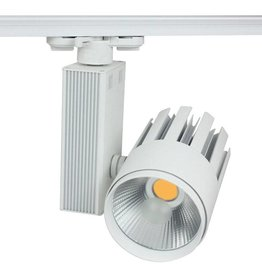 Railverlichting richtbaar wit LED 30W COB design 100mm Ø