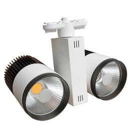 Railverlichting richtbaar wit LED 40W (2x20W) COB design