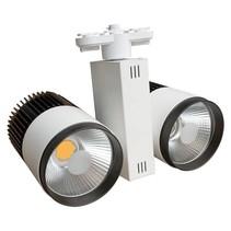 Spot sur rail LED 60W (2x30W) blanc moderne tri-phasé