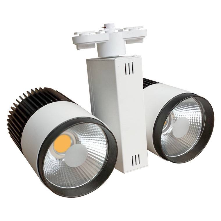 Track lighting fixture led 60w 2x30w white modern myplanetled track lighting fixture led 60w 2x30w white modern aloadofball Choice Image