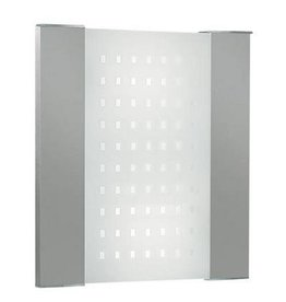 Wall light E27  x 2 square pointed frontal 350mm wide