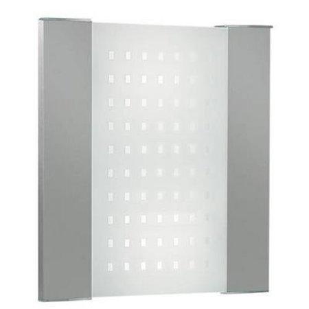 Wandlamp grijs vierkant gestipt frontaal 350mm B 2xE27