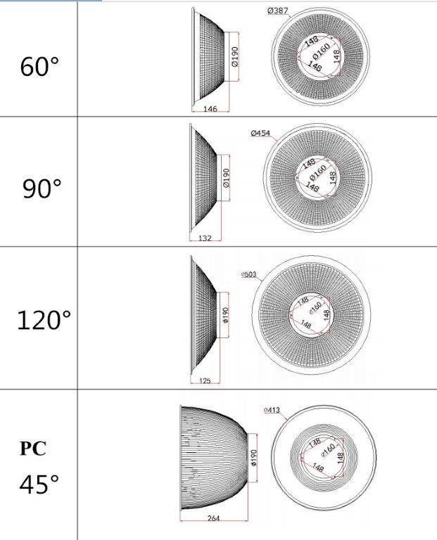 LED high bay driverless 165W
