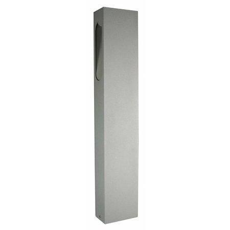 Tuinpaal LED design grafiet, wit, zilver, roest 650mm hoog 5W