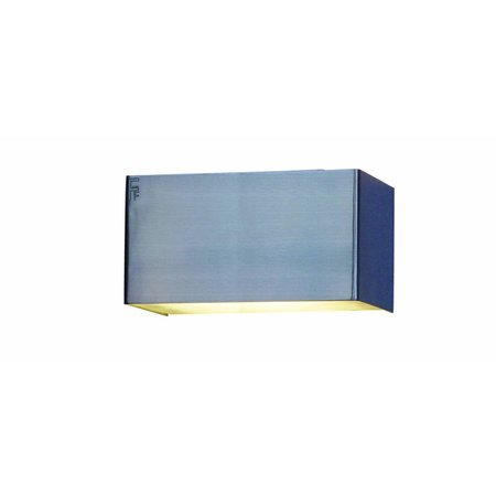 Applique murale LED blanche, aluminium ou acier brossé G9 2,6W 140mm