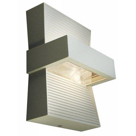 Applique murale exterieure LED blanc, argent ou graphite 5W
