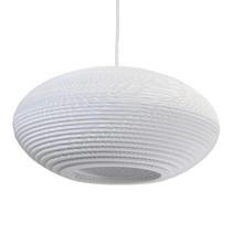 Hanglamp-karton wit-beige design karton ellips Ø 42cm E27