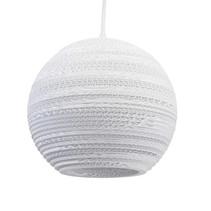 Hanglamp-karton wit of beige design bol Ø 26cm E27