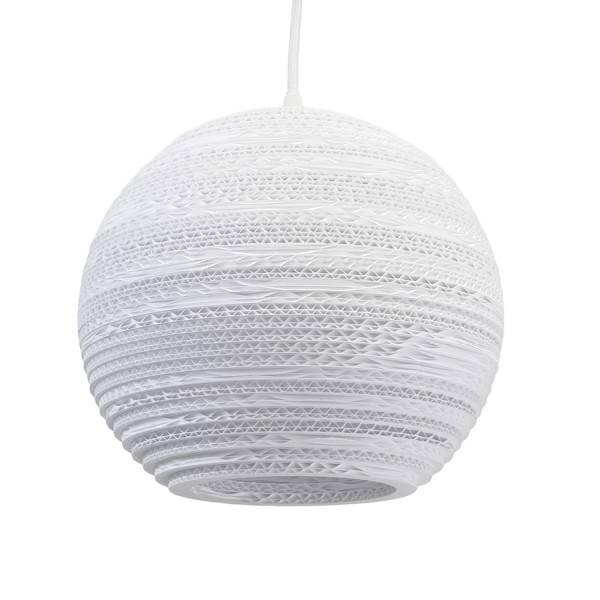 Pendant light design white or beige cardboard Ø 26cm E27