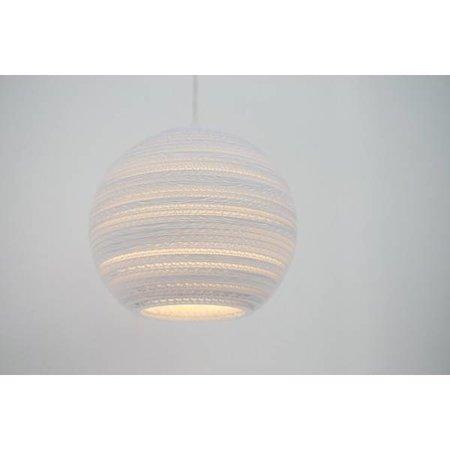Luminaire suspendu boule blanc beige carton Ø 45cm E27