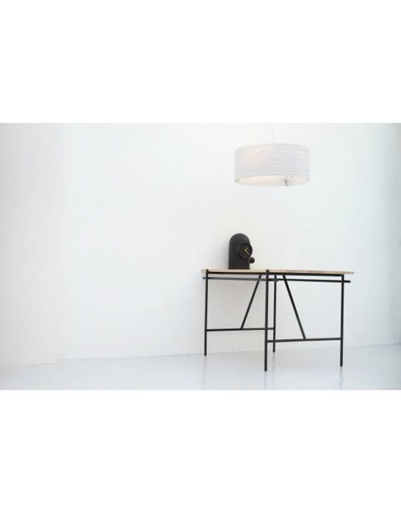 luminaire suspendu design blanc beige rond carton 92cm myplanetled. Black Bedroom Furniture Sets. Home Design Ideas