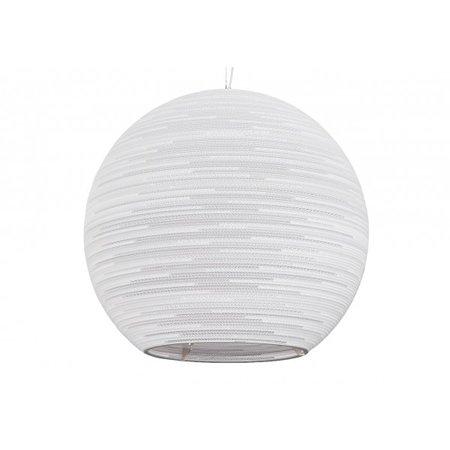 Pendant light design white or beige bulb cardboard Ø 163cm