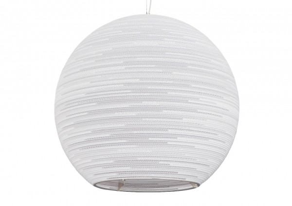 Luminaire suspendu boule blanc beige g ant carton 163cm for Luminaire suspendu blanc