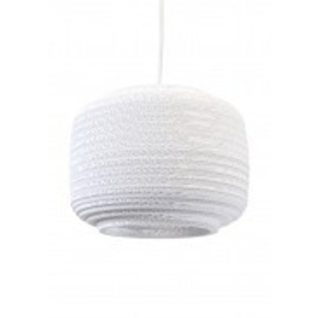 Pendant light design white-beige basket cardboard Ø 28cm