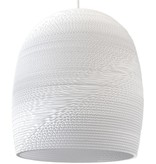 Pendant light design white or beige conic cardboard Ø 27cm