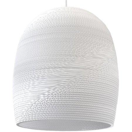 Pendant light design Ø 38cm white or beige conic cardboard
