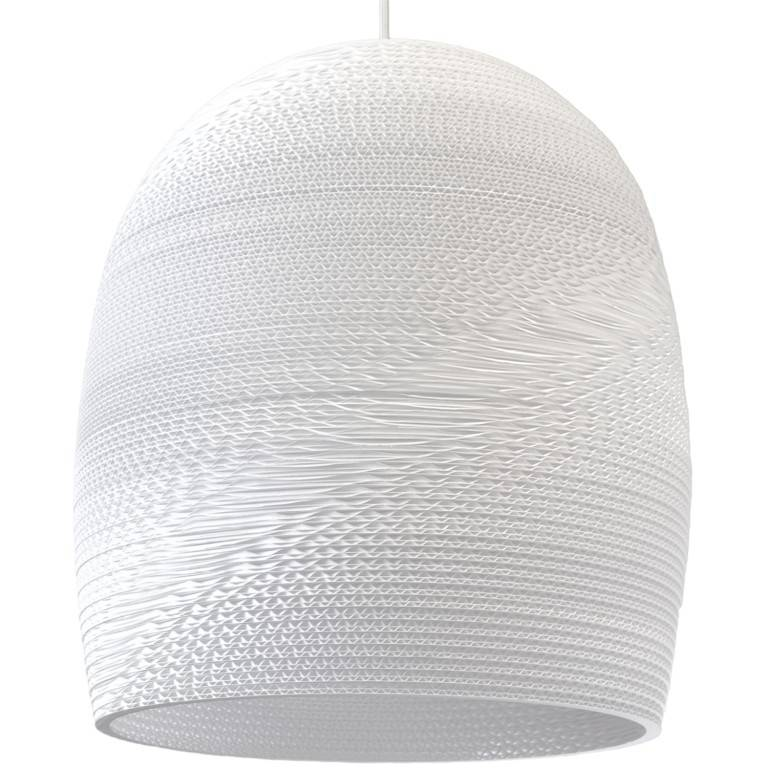 Pendant light design Ø 38cm white or beige conic cardboard