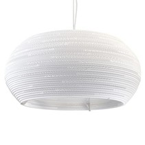 Hanglamp-karton wit of beige design ellips Ø 82cm E27