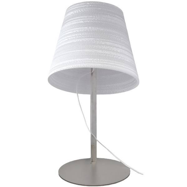 lampe de bureau design blanche ou beige carton 34cm myplanetled. Black Bedroom Furniture Sets. Home Design Ideas