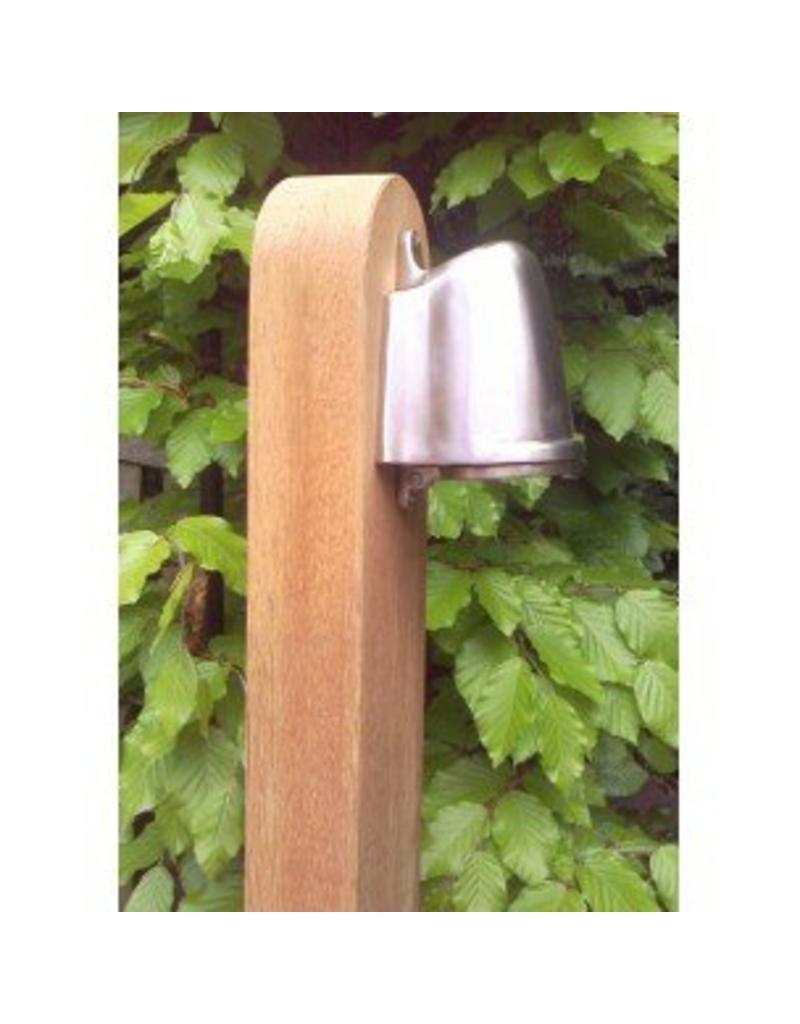Lampadaire exterieur bois rural bronze chrome gu10 1m for Lampadaire exterieur bois