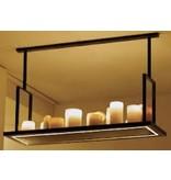 Pendant light design LED white, bronze 12 candles 125cm