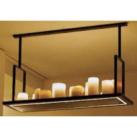 Pendant light design LED vintage white, bronze 14 candles