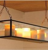 Hanglamp met kaarsen LED 11 kaarsen 1,25m glas landelijk