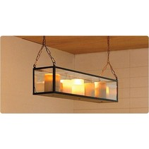 Pendant light glass 11 candles 1,25m design LED rustic