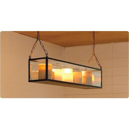 Pendant light glass 14 candles LED 1,5m design rural