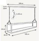 Pendant light glass 14 candles LED 1,5m design rural