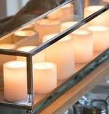 Tafellamp landelijke stijl LED brons-chroom-nikkel 9xkaars